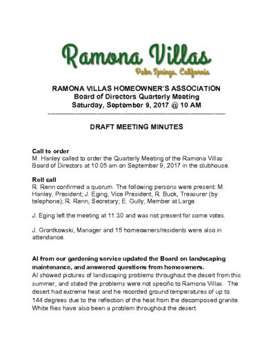 thumbnail of Quarterly Meeting MINUTES 090917