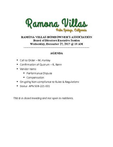 thumbnail of Executive Session Agenda 122717